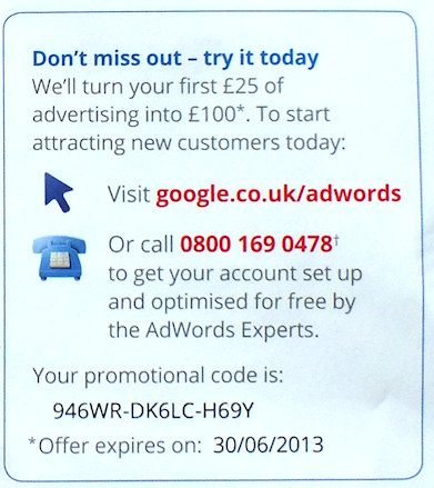 100 GBP AdWords Voucher Code