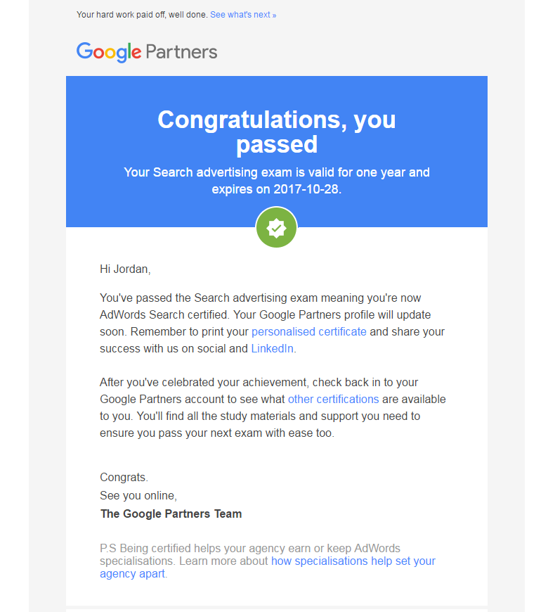 adwords-search-exam-passed