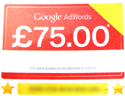 75 Google AdWords Voucher 75 gbp