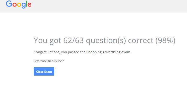 google-shopping-exam-2016